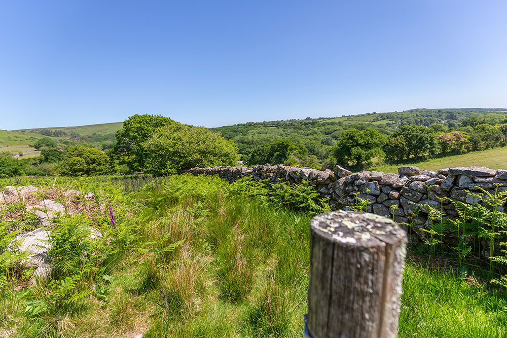 Views over the countryside & moor