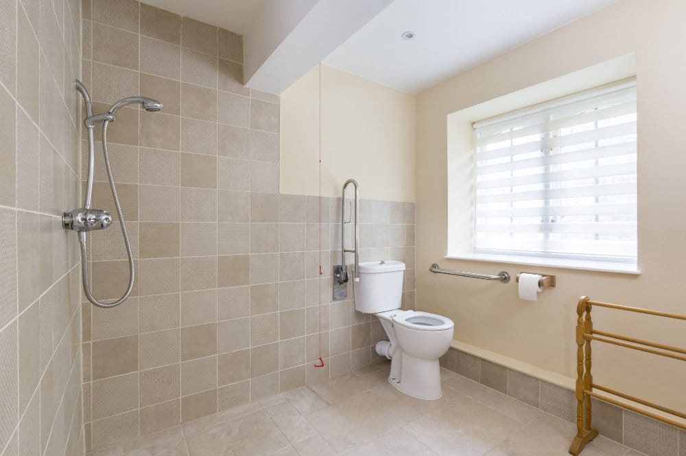 Disabled suite wetroom